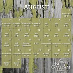 2015 August Bible Reading