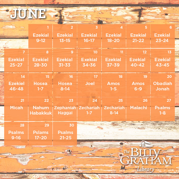 June Calendar Girl Read : Read through the bible in billy graham library