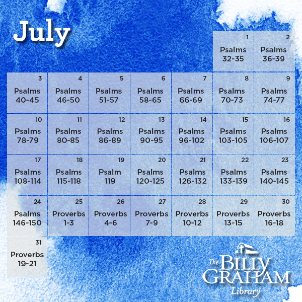 2016 July Bible Reading