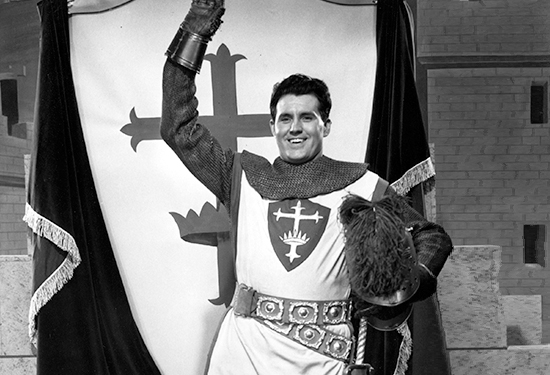 Cliff Barrows doing an early television show for children called The Silver Shield.